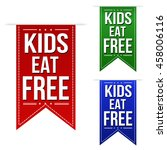 kids eat free banners design