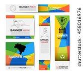 abstract sport banner for... | Shutterstock .eps vector #458016976