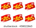 seasonal sale and discount.... | Shutterstock . vector #458022865