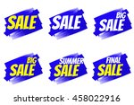 seasonal sale and discount.... | Shutterstock . vector #458022916