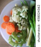 Colorful Blanched Vegetables.