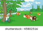 countryside   Shutterstock .eps vector #45802516