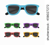 sun glasses  icon set  isolated.... | Shutterstock . vector #458027272