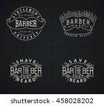 set of vector emblems barber... | Shutterstock .eps vector #458028202