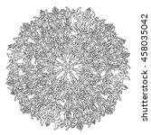 Circle Ornament Of Snowflakes...