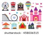 amusement park colorful objects ... | Shutterstock .eps vector #458036515