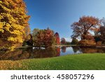 autumnal colored trees | Shutterstock . vector #458057296