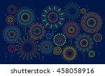 fireworks | Shutterstock .eps vector #458058916