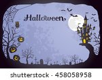 halloween background | Shutterstock .eps vector #458058958
