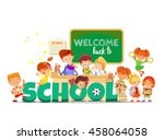 back to school banner design... | Shutterstock .eps vector #458064058