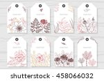 collection rustic labels with... | Shutterstock .eps vector #458066032