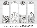 collection rustic labels with... | Shutterstock .eps vector #458066098