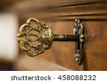 Macro Shot Of An Antique And...