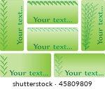 set of business cards | Shutterstock .eps vector #45809809
