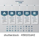 5 steps timeline template and... | Shutterstock .eps vector #458101642