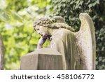 Statue Of A Contemplative Ange...