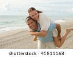 beautiful couple playing at the ... | Shutterstock . vector #45811168