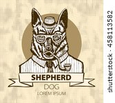 German Dog Shepherd Hipster...