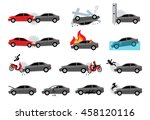 cartoon vector car accident... | Shutterstock .eps vector #458120116