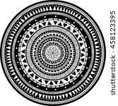 vector beautiful ethnic... | Shutterstock .eps vector #458123395