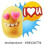 3d Rendering. Emoji Saying I...