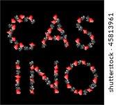 casino sign elements | Shutterstock .eps vector #45813961