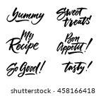 the cooking lettering designs... | Shutterstock .eps vector #458166418
