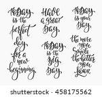 positive life style inspiration ... | Shutterstock .eps vector #458175562