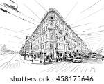 russia. saint petersburg.... | Shutterstock .eps vector #458175646
