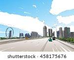 singapore. singapore flyer.... | Shutterstock .eps vector #458175676