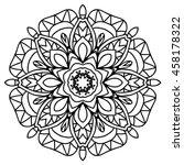 mandala for painting. vector...   Shutterstock .eps vector #458178322