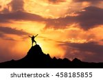 Landscape With Silhouette Of A...