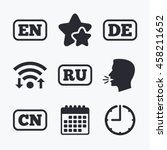 language icons. en  de  ru and... | Shutterstock .eps vector #458211652