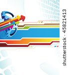 abstract background with place...   Shutterstock .eps vector #45821413