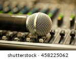 close up microphone isolated ... | Shutterstock . vector #458225062