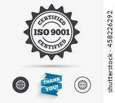 iso 9001 certified sign icon.... | Shutterstock .eps vector #458226292
