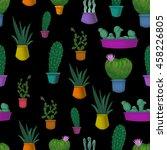 cactus pattern | Shutterstock . vector #458226805