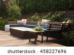 a contemporary outdoor... | Shutterstock . vector #458227696