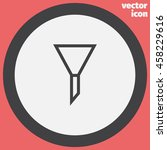 filter sign line vector icon....