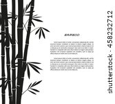 black bamboo silhouette on a... | Shutterstock .eps vector #458232712