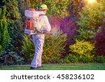 pest control garden spraying by ... | Shutterstock . vector #458236102
