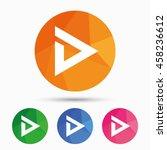 arrow sign icon. next button.... | Shutterstock .eps vector #458236612