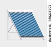 solar collector. hot water...   Shutterstock .eps vector #458239306