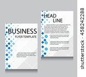 vector brochure flyer design...   Shutterstock .eps vector #458242288