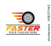 speed and fast logo template ... | Shutterstock .eps vector #458257462