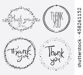 vector hand lettering thank you ... | Shutterstock .eps vector #458261152