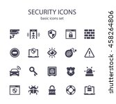 security icons | Shutterstock .eps vector #458264806