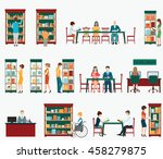various character of people in... | Shutterstock .eps vector #458279875