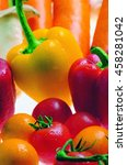 fresh colorful vegetables | Shutterstock . vector #458281042