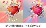 two heart shape frames  with... | Shutterstock .eps vector #45829438